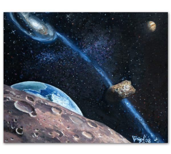 Kosmos_Originalna_kartina_maslo_diana_strumin_50x40
