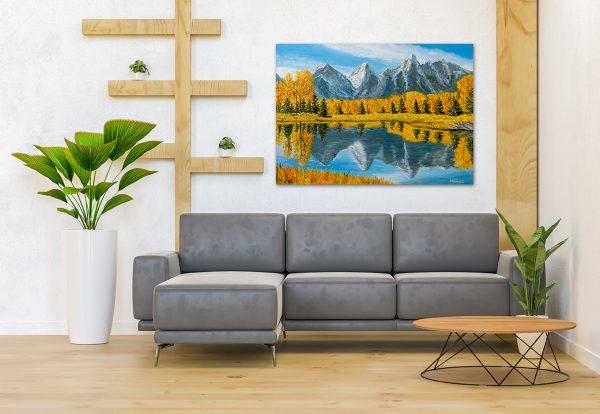 Interior decorating print original painting
